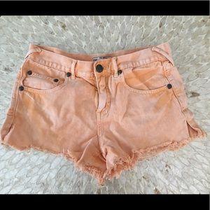 Free People Women's Orange Shorts Size 27